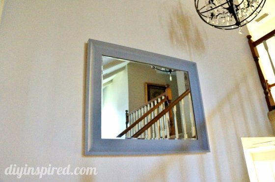 Two Toned Metallic Mirror Makeover