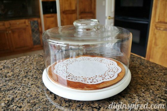 Easy Upcycled Cake Platter