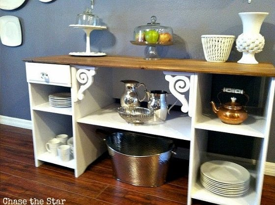 Repurposed Desk Buffet