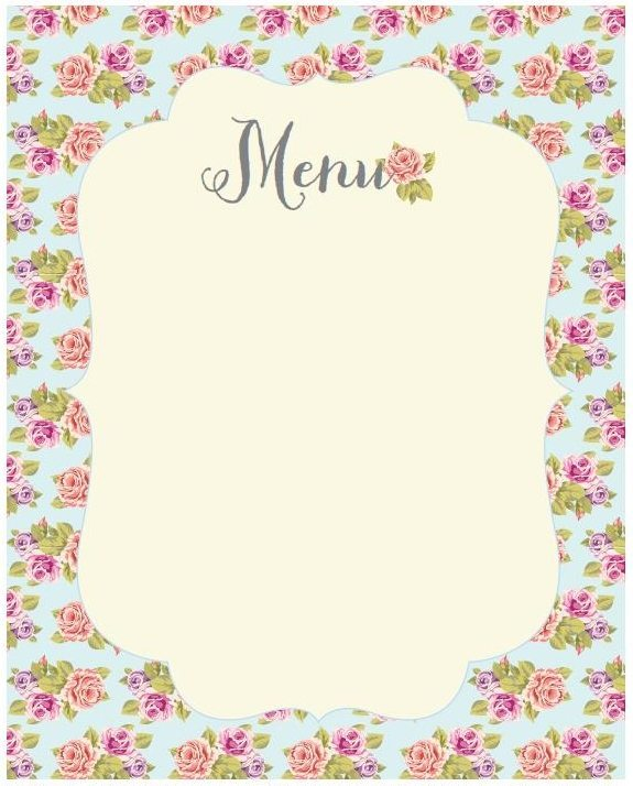 Vintage Baby Shower Menu