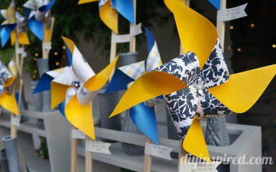 Whimsical Navy and Yellow Wedding