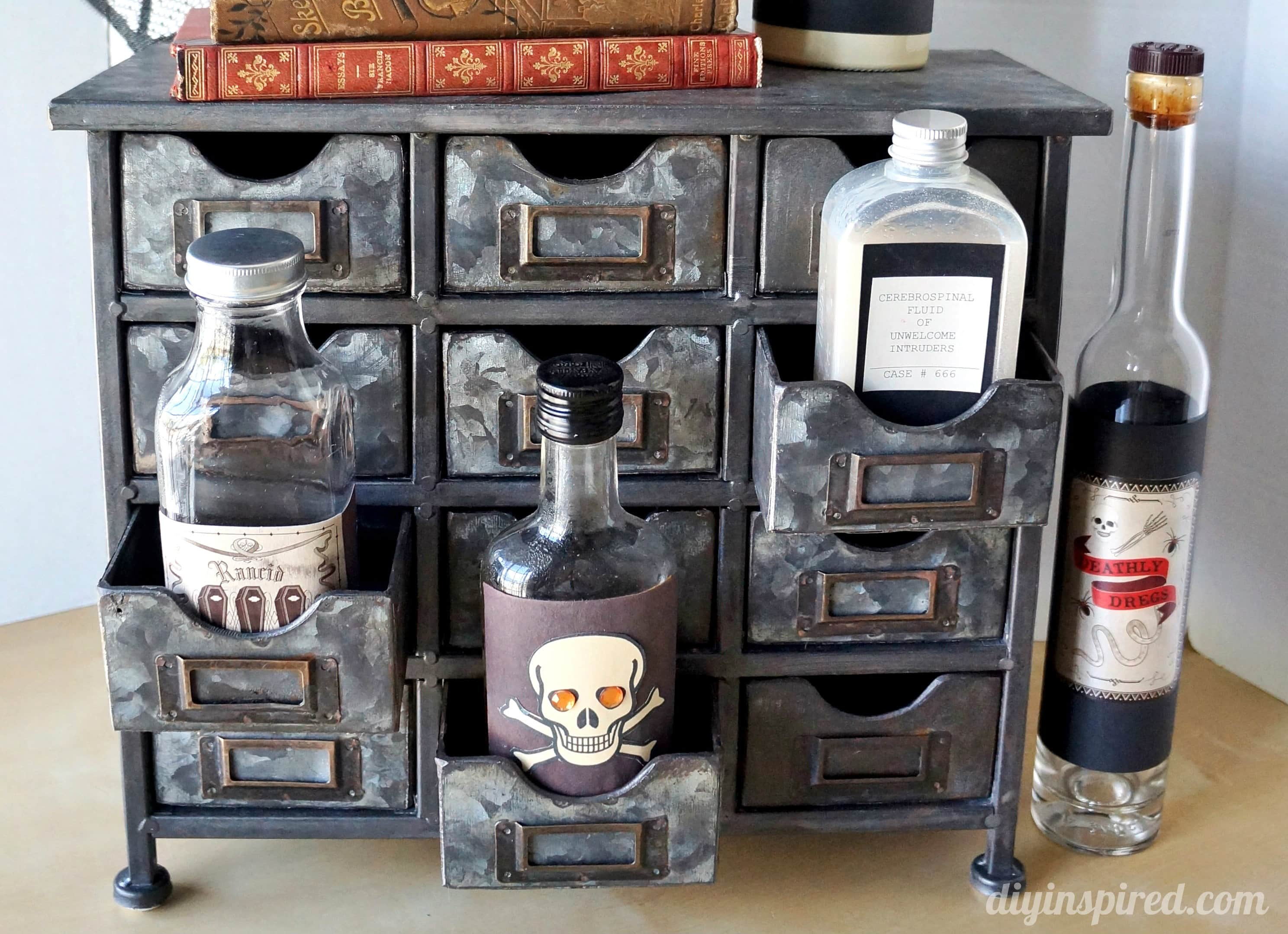 Spooky Halloween Apothecary Display