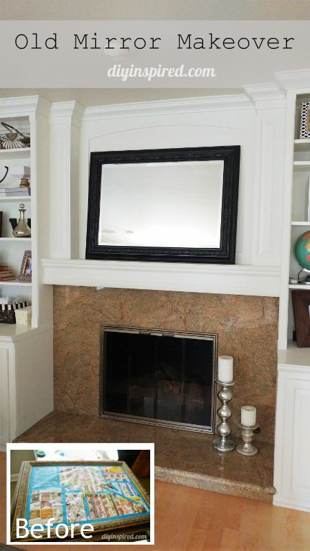 Old Mirror Makeover with Paint - DIY Inspired