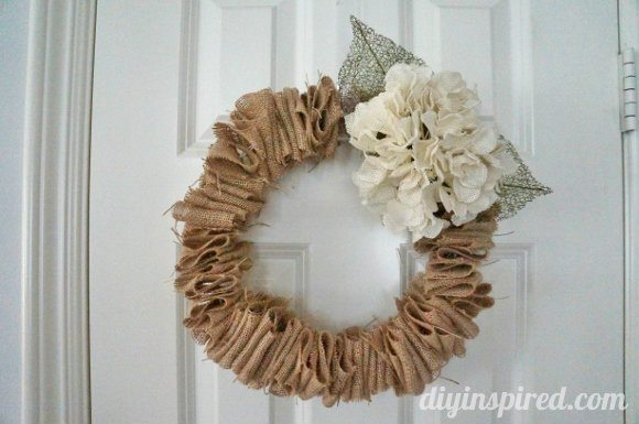 Burlap Wire Hanger Wreath Tutorial