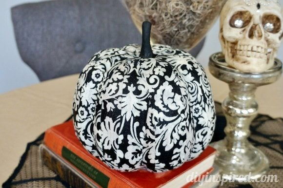 decoupage-fabric-pumpkin