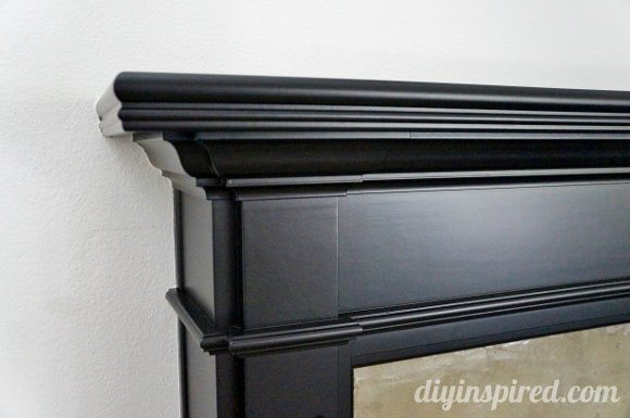 Brick Mantel Makeover