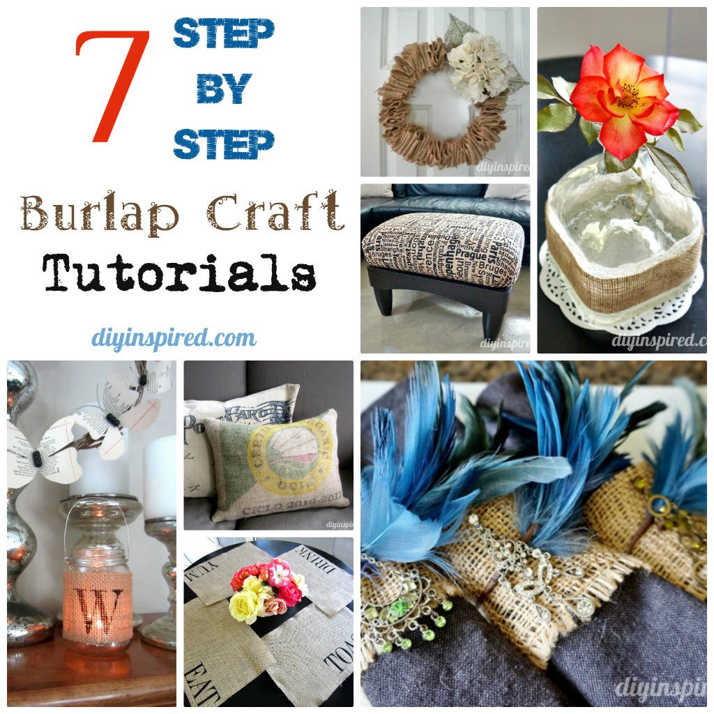 7 step by step burlap craft tutorials