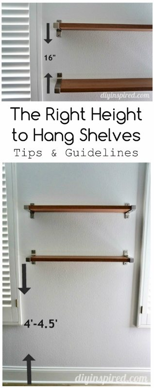 The Right Height to Hang Shelves - DIY Inspired