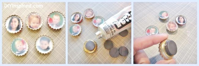 recycled-christmas-card-bottle-cap-magnets (2)