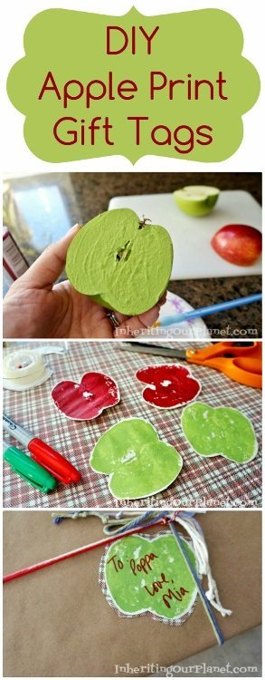 DIY Apple Print Gift Tags