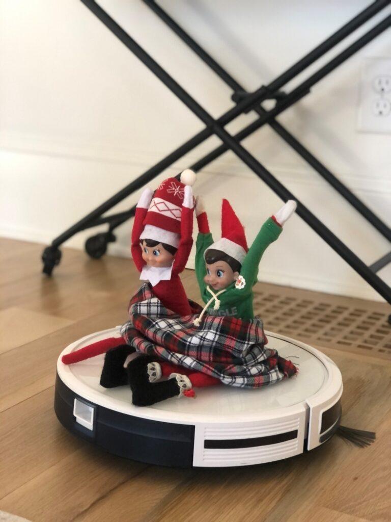 Elves Riding a Robot Vacuum