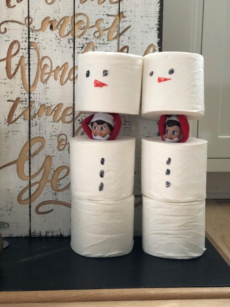 Toilet Paper Snowmen Elves