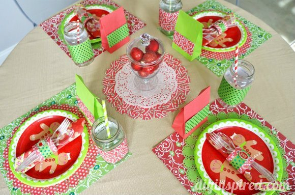 Kids Christmas Table Setting #PaperCraftedChristmas
