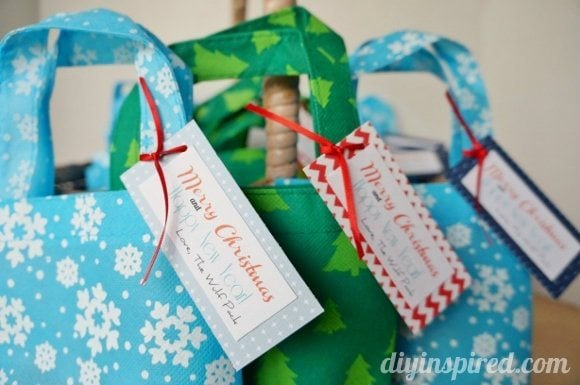 Quick and Easy Holiday Gift Bag Party Favors