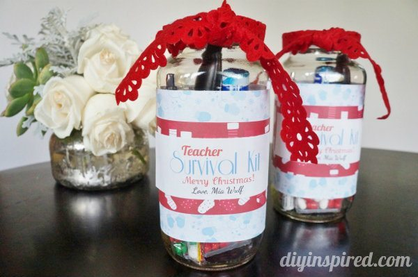 Mason Jar Teacher's Survival Gift Kits