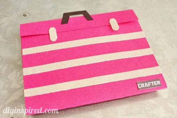 Paper Toolbox Gift Card Holder Tutorial