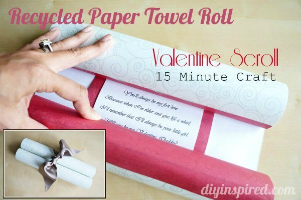 15 Minute Craft: Paper Towel Roll Valentine Scroll