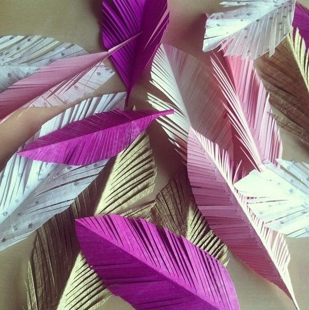 Paper Feather Craft Ideas