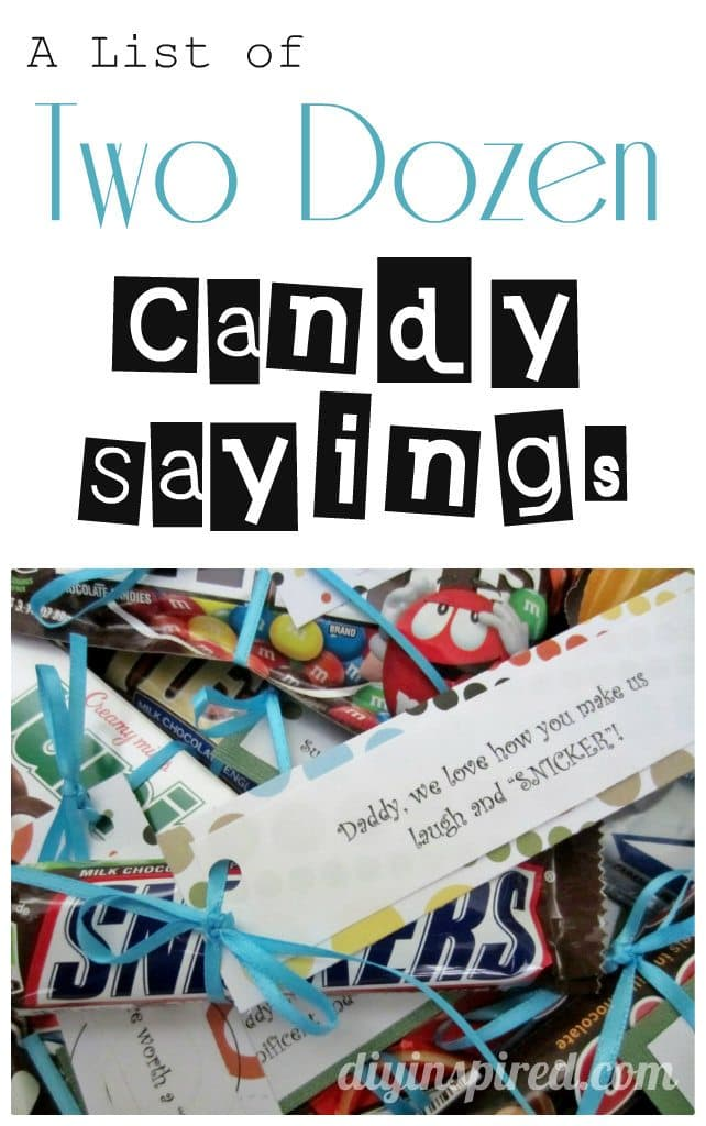 A List of Two Dozen Candy Sayings