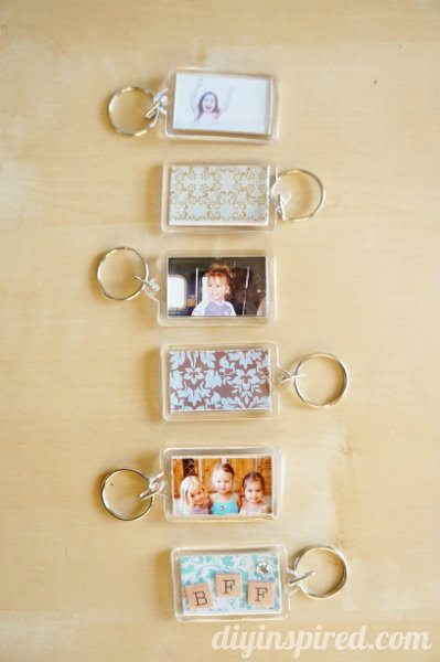 Modpodgeable DIY Photo Key Chains