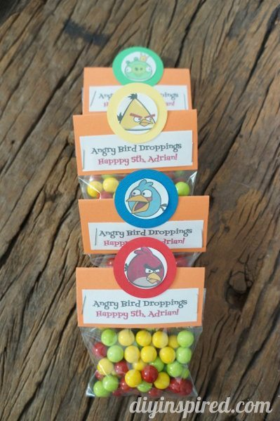 Easy DIY Angry Birds Party Favors