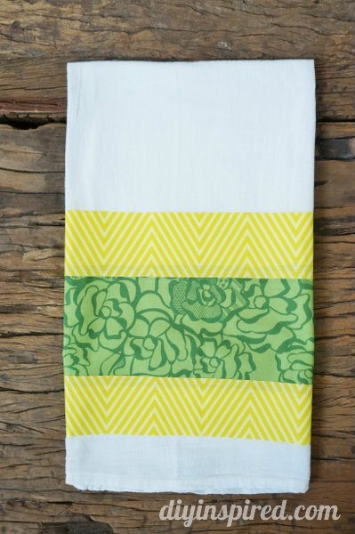 No Sew St. Patrick's Day Kitchen Towel
