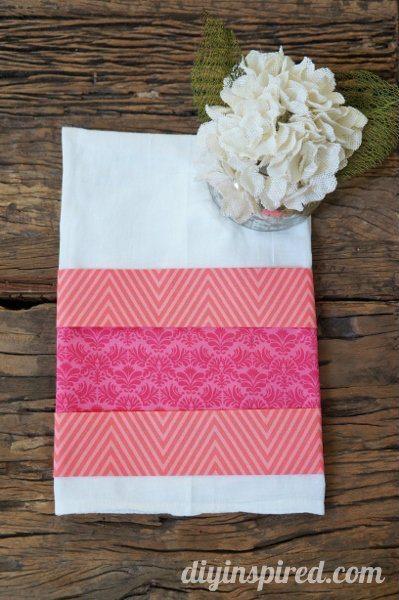 No Sew Valentine's Day Kitchen Towel