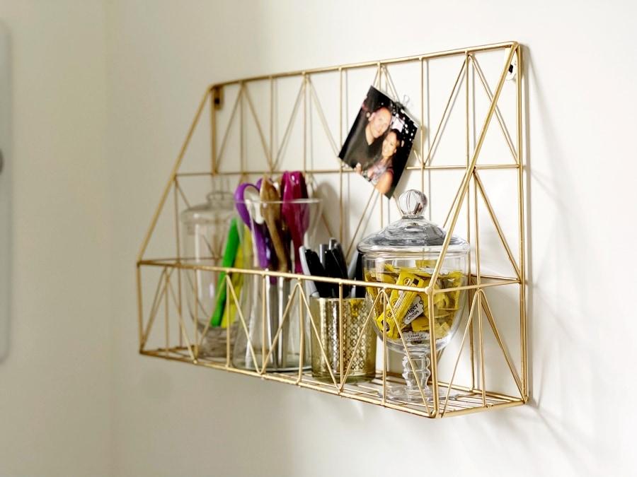 Gold Wire Storage and Organization Shelf