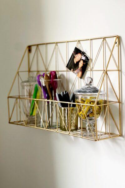 Thrift Store Wire Storage Makeover