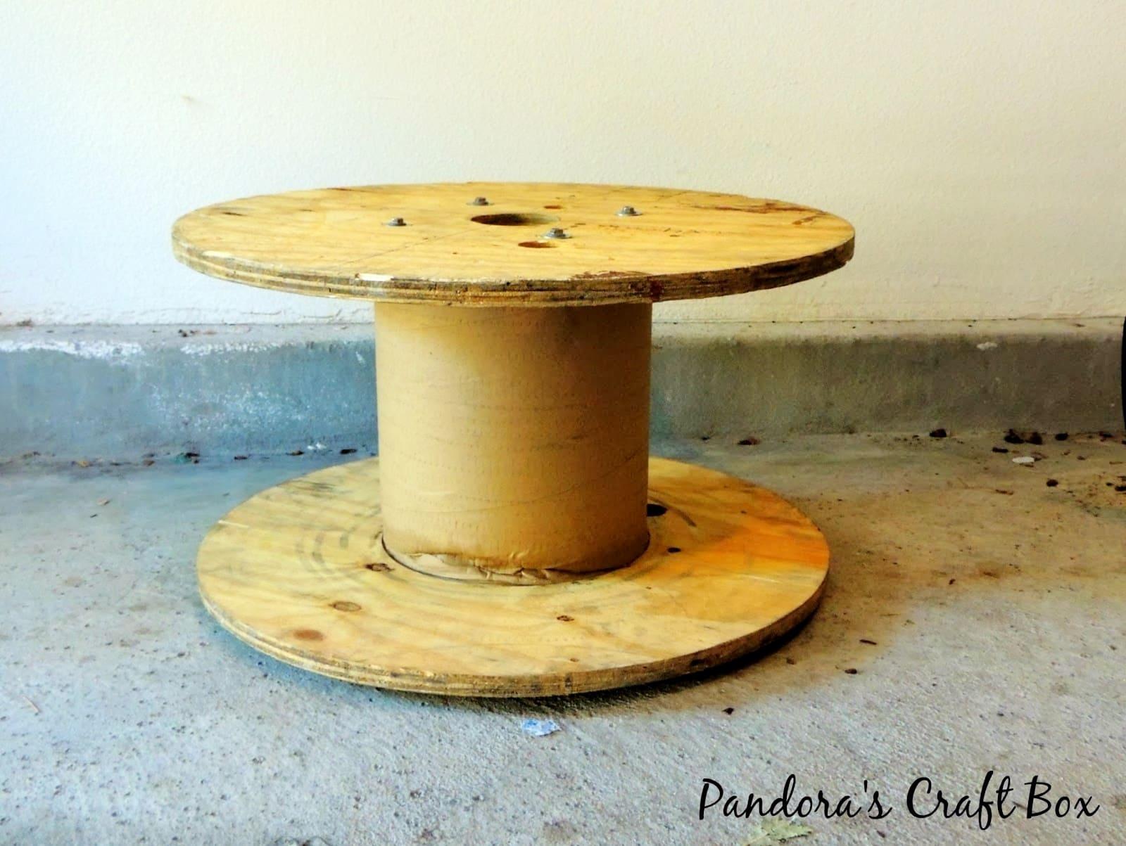 Repurposed Wooden Cable Spool Diy Inspired