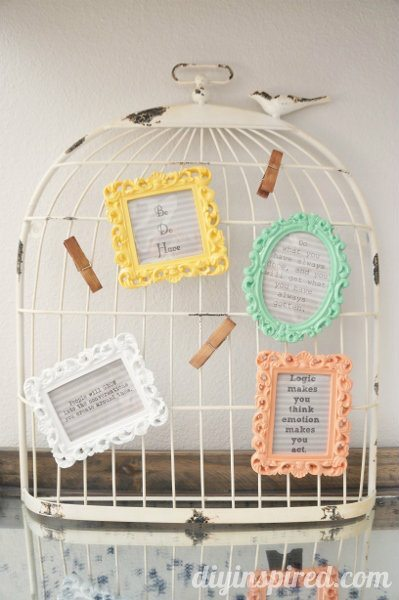Easy Shabby Chic Office Display