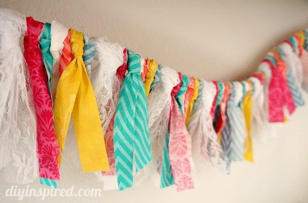 Fabric and Lace Shabby Chic Bunting