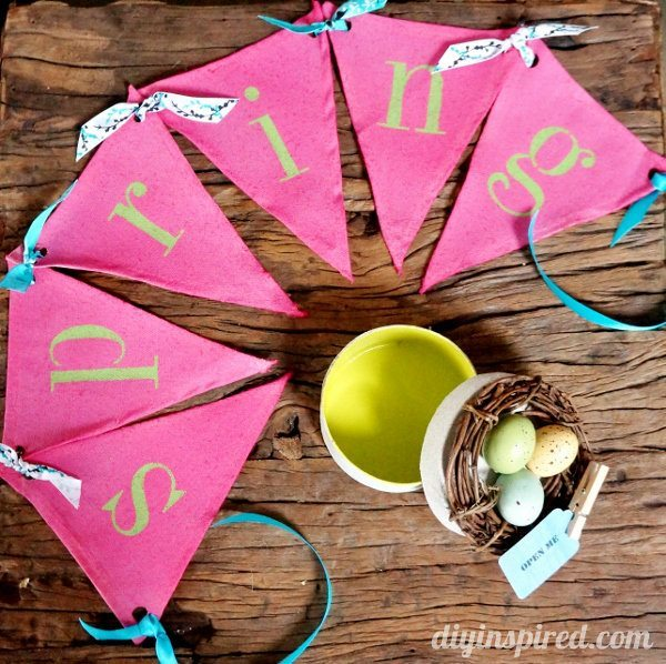 DIY Spring Bunting and Gift Box Set