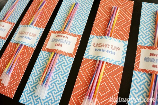 Glow Stick 4th of July Party Favor Printable