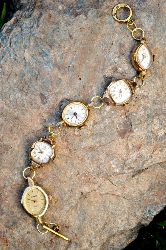 Recycled Vintage Watch Bracelet