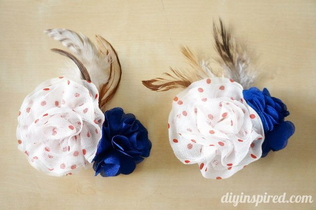 Red, White, and Blue DIY Feather Hair Clips