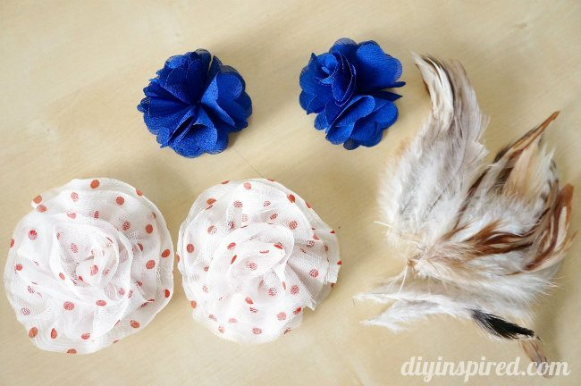 easy red white and blue head piece