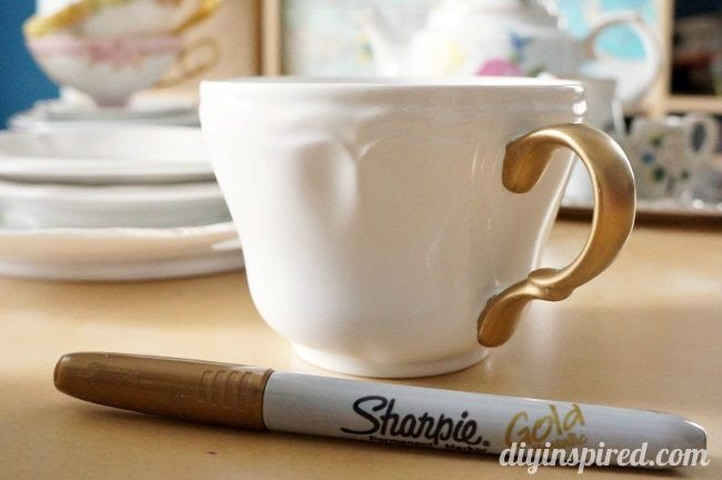 sharpie tea cup