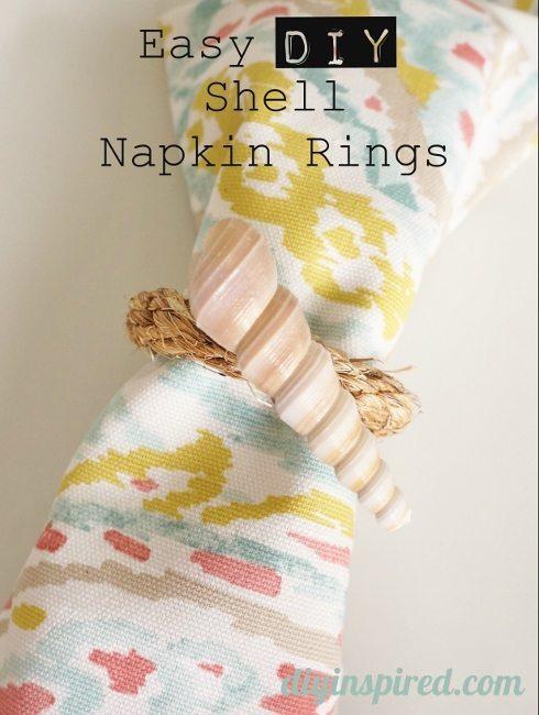 Easy Shell DIY Napkin Rings