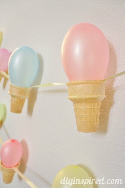 Ice Cream Cone Party Banner DIY (6)