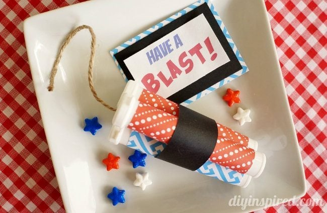 Repurposed Dynamite Stick Patriotic Party Favors (5)