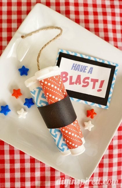Repurposed Dynamite Stick Patriotic Party Favors