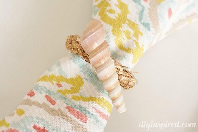 Shell DIY Napkin Rings