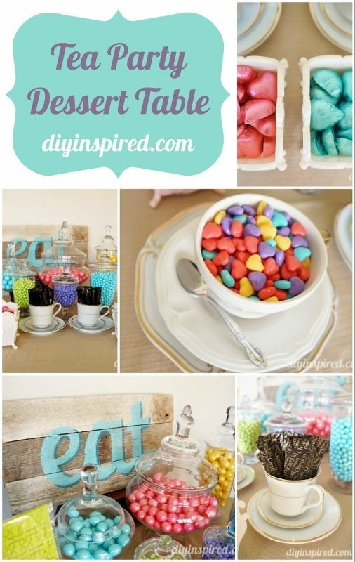 Tea Party Dessert Table - DIY Inspired