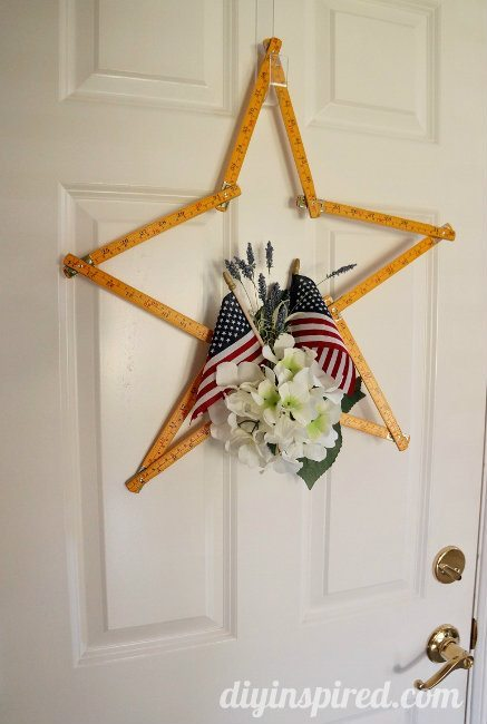Upcycled Ruler Patriotic Wreath Diy Diy Inspired