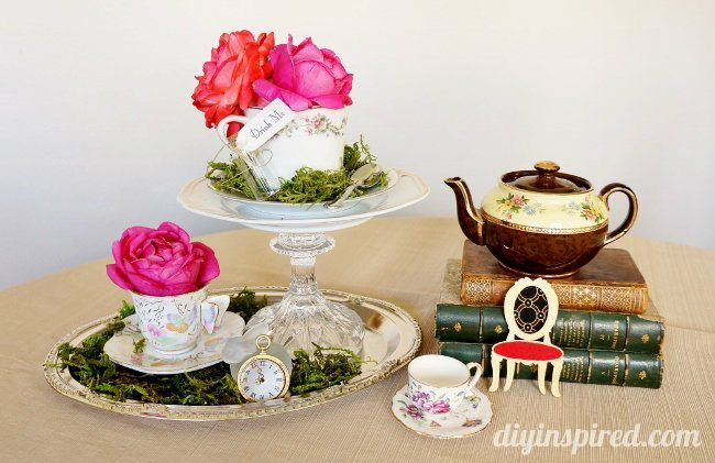 Vintage Mad Hatter Tea Party Centerpieces (4)