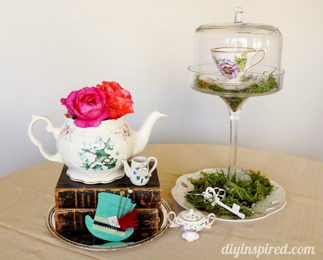 Vintage Mad Hatter Tea Party Centerpieces (5)
