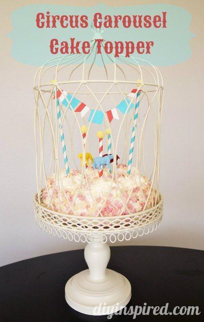 Carnival Carousel or Circus Cake Topper Tutorial