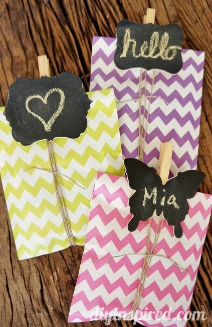 DIY Chalkboard Clothespin Tags Party Favor