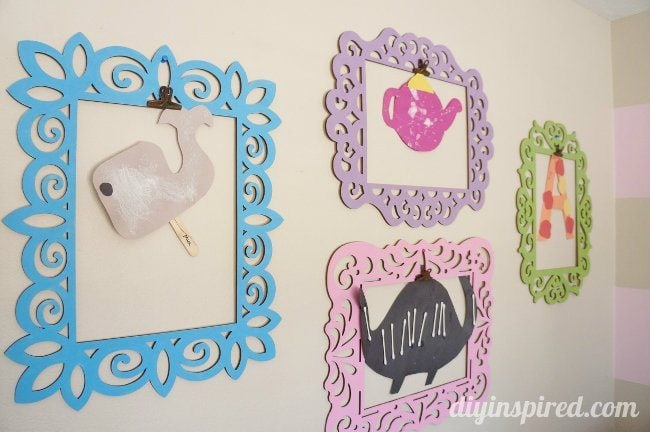 Kids Artwork Display Idea (8)